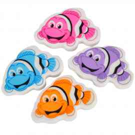 Clown fish eraser from Wholesale School Supply