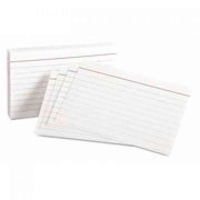 index cards lined 100 pack note cards